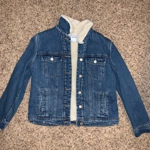 Fuzzy Lined Jean Jacket